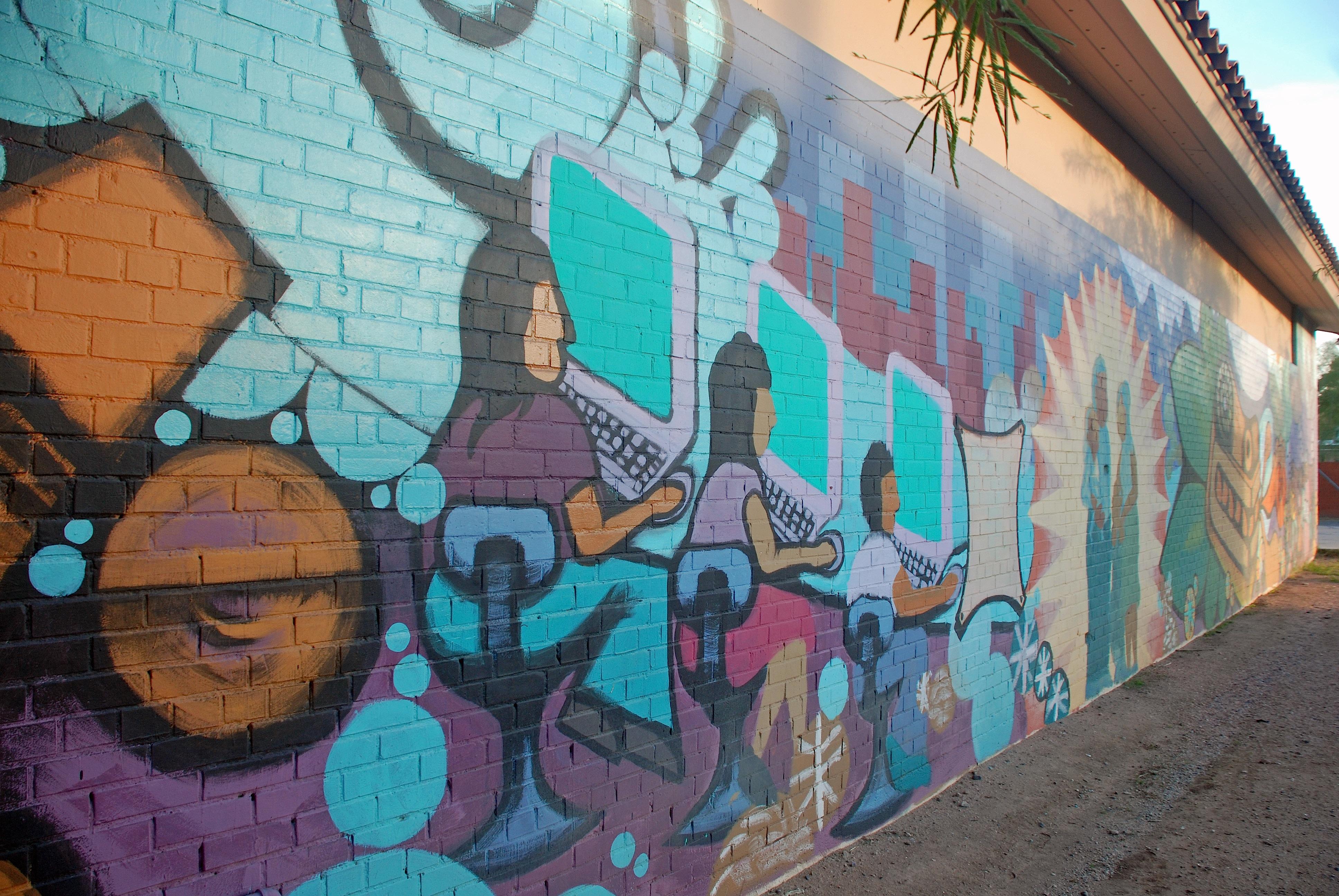 2 blocks glenrosa journeys for Calle 16 mural project