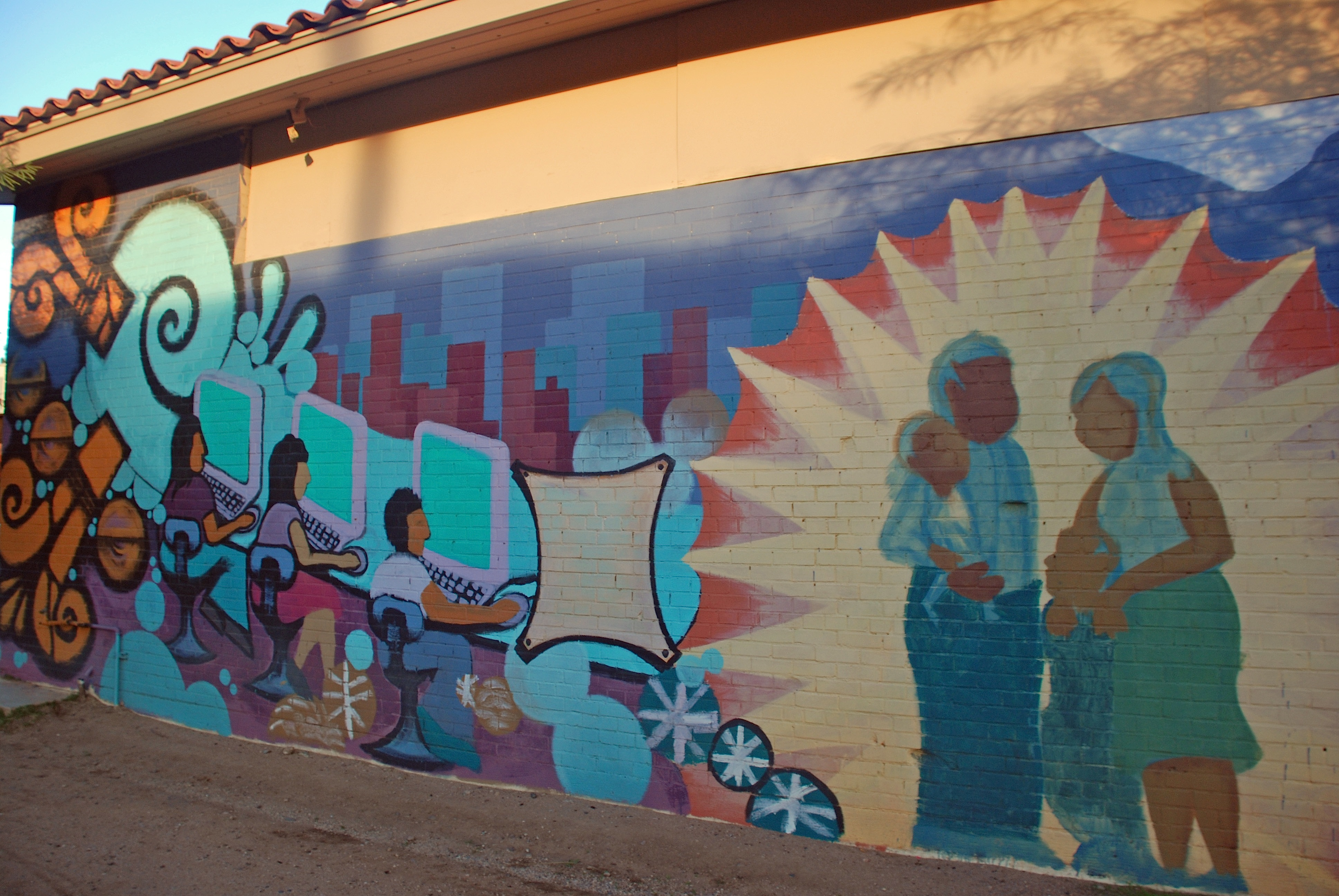 2 blocks glenrosa journeys for Calle 16 mural project