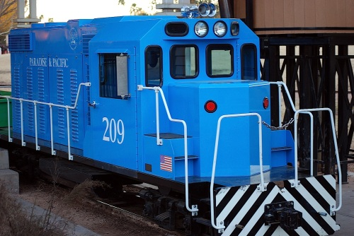One of the 5 engines of the small-scale railroad available for rides...