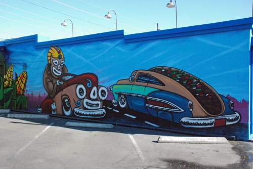 Luchadores Mural